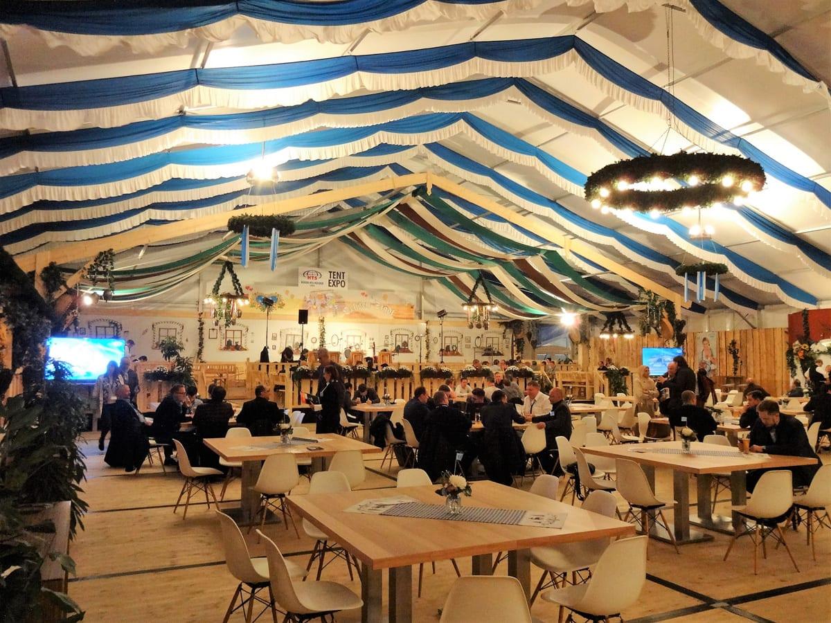 HTS tentiQ Großzelt im Oktoberfest-Design